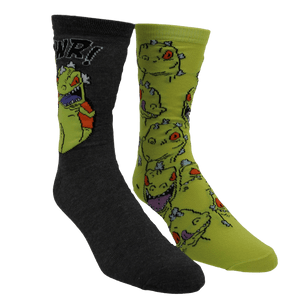 2 Pair Pack Nickelodeon Rugrats Reptar Socks - The Sock Spot