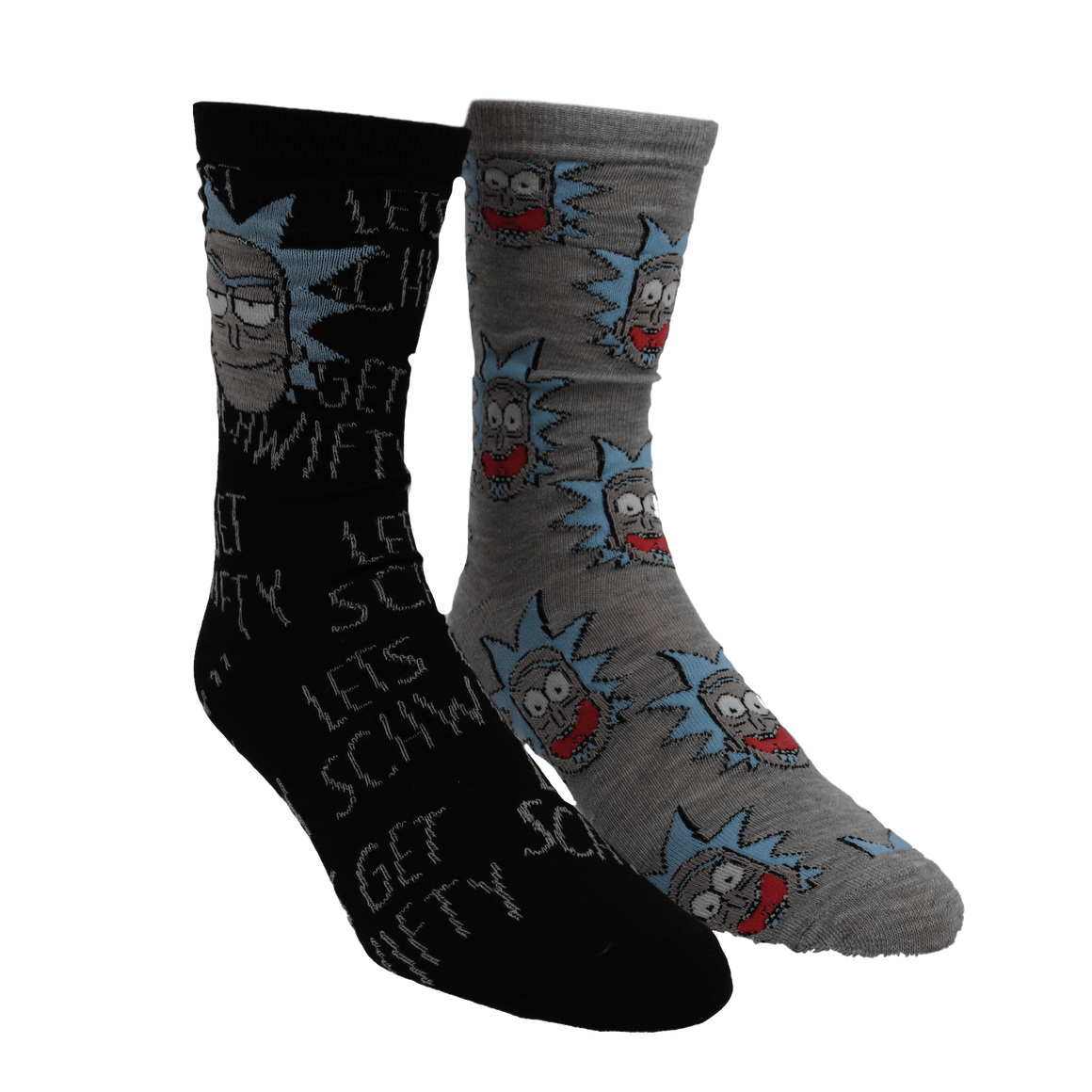 2 Pair Pack Rick and Morty Socks - The Sock Spot