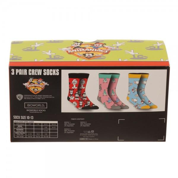 3 Pair Box Animaniacs Socks - The Sock Spot