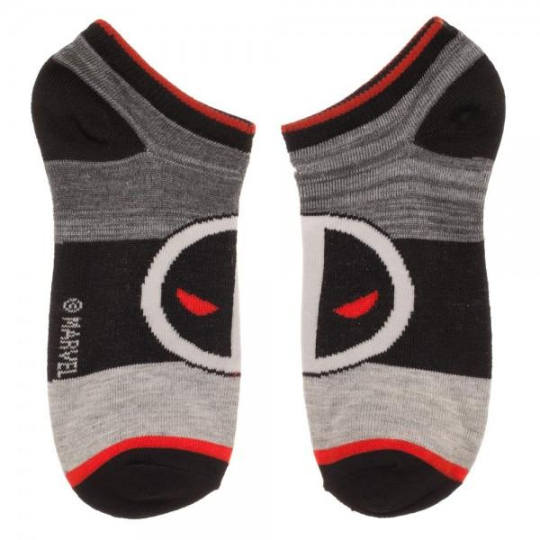 3 Pair Pack Marvel Deadpool Superhero Ankle Socks - The Sock Spot