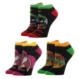 3 Pair Pack Space Jam Ankle Socks - The Sock Spot