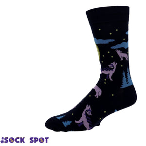 6 Wolf Moon Men's Socks by Sock it to Me - The Sock Spot