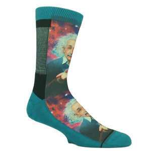 Albert Einstein Printed Socks by Good Luck Sock - The Sock Spot