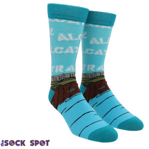 Alcatraz Men's Socks by Oooh Yeah Socks - The Sock Spot