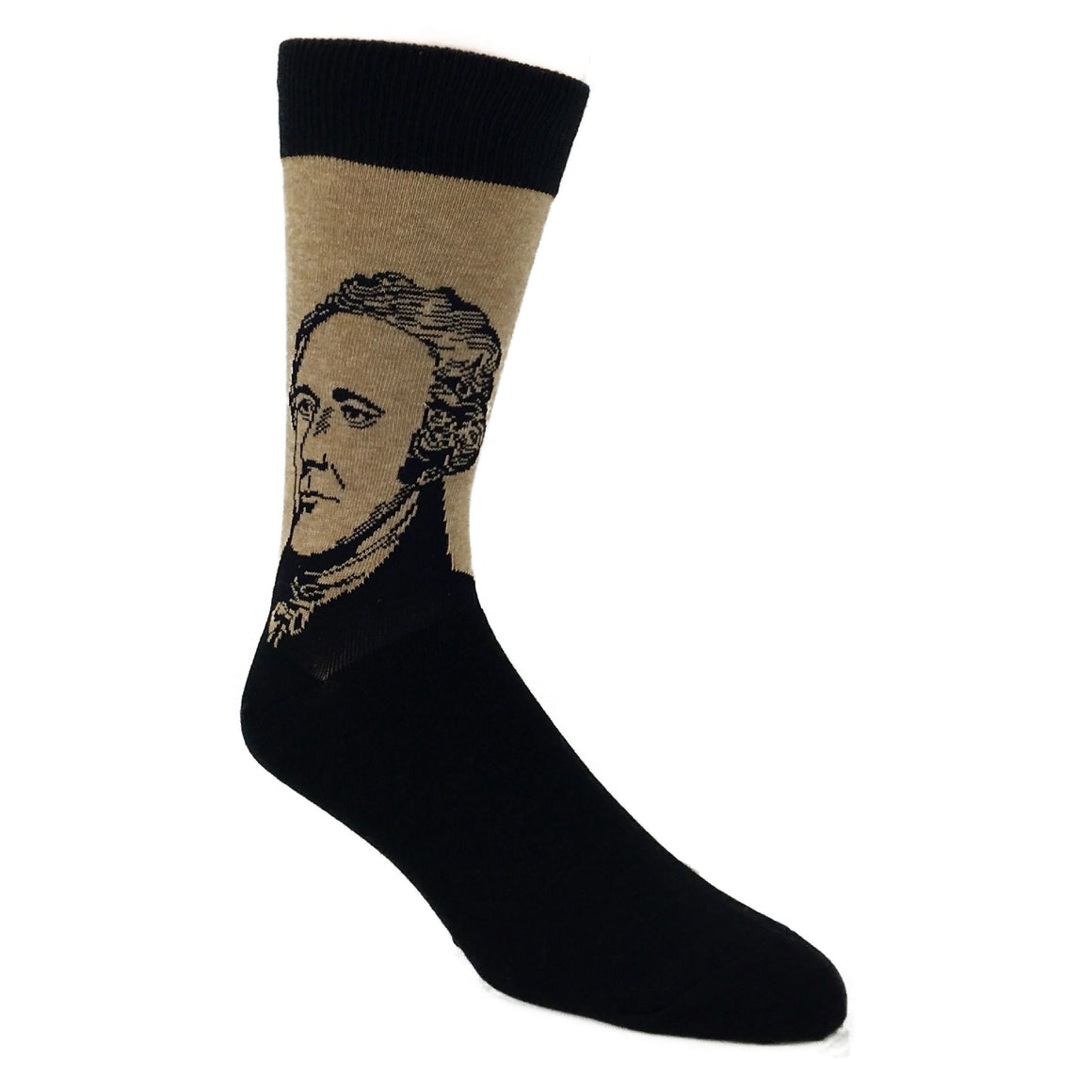 Alexander Hamilton Socks in Brown by SockSmith - The Sock Spot