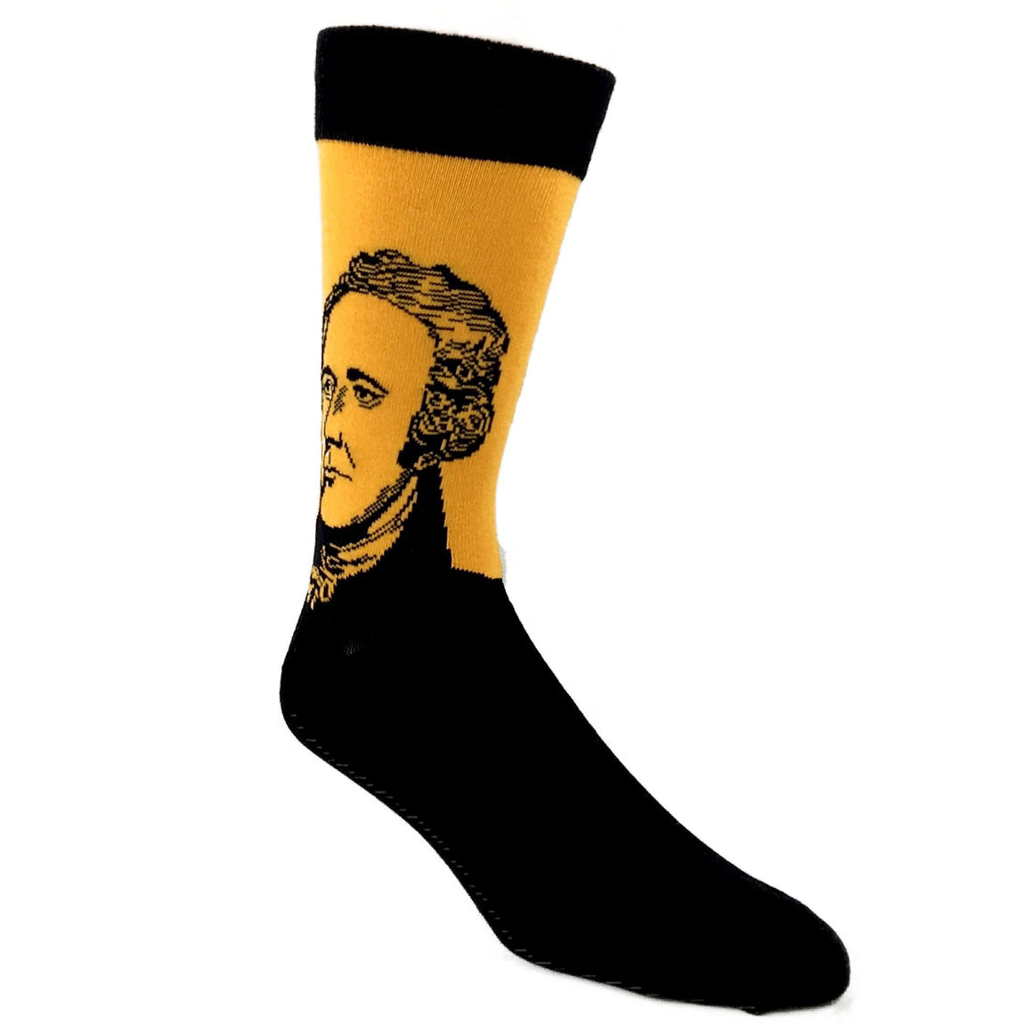 Alexander Hamilton Socks in Gold by SockSmith - The Sock Spot