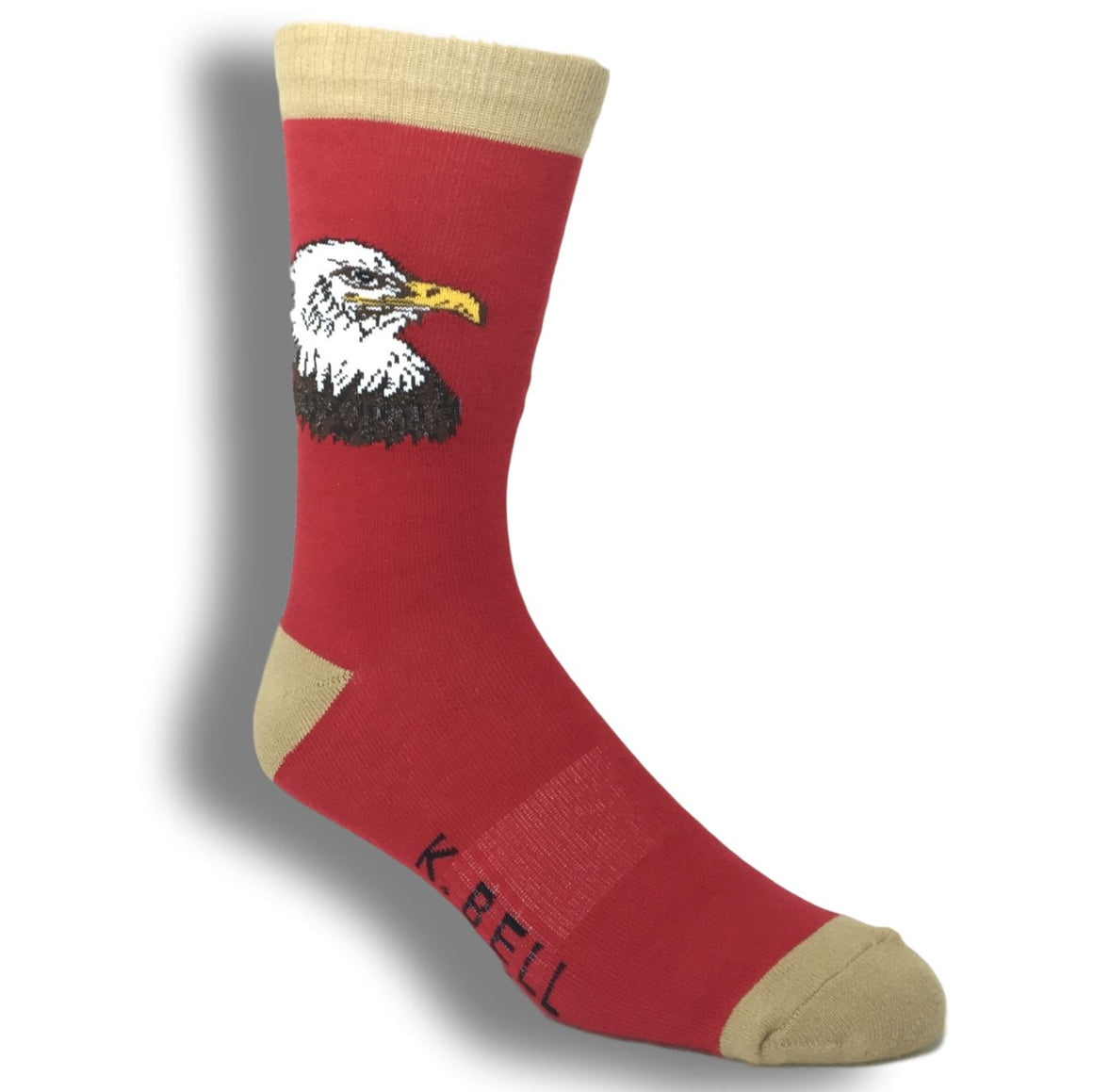 American Bald Eagle - Made In America by K.Bell - The Sock Spot