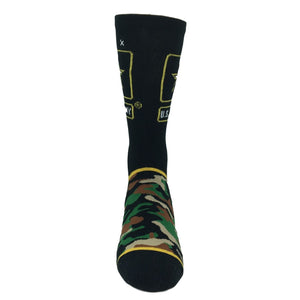 Army Woodland Camo Athletic Socks by Odd Sox - The Sock Spot