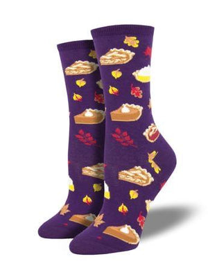 Autumn Pies Women's Socks in Purple by SockSmith - The Sock Spot