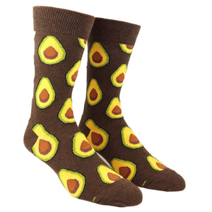 Avocado Food Socks in Brown by SockSmith - The Sock Spot