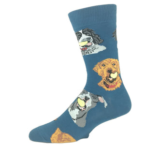 Ball Dog Socks in Blue by SockSmith - The Sock Spot