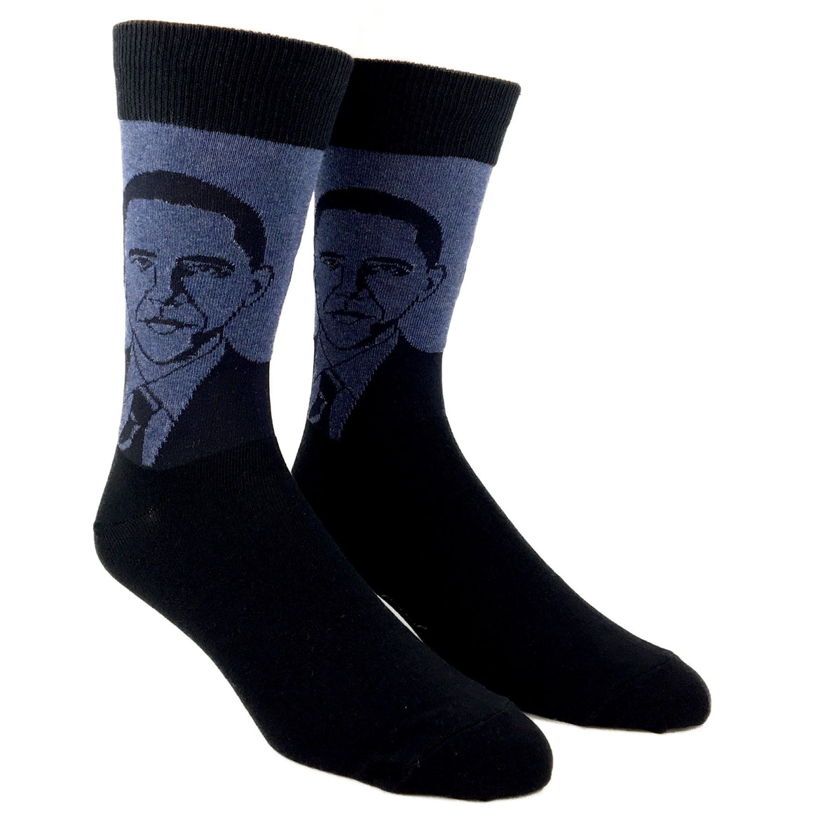 Barack Obama Socks in Blue by SockSmith - The Sock Spot