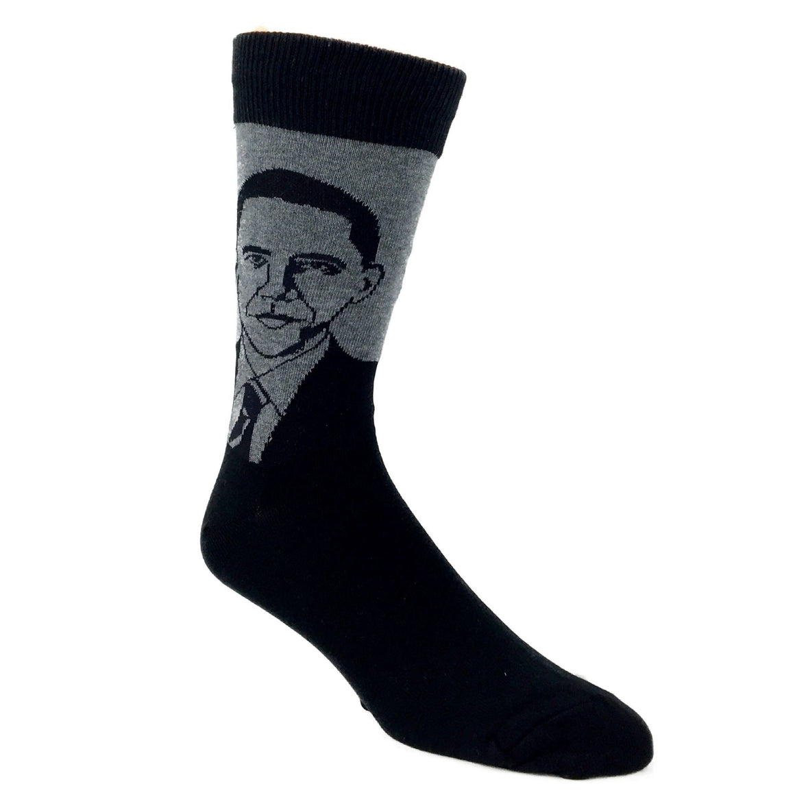 Barack Obama Socks in Grey by SockSmith - The Sock Spot