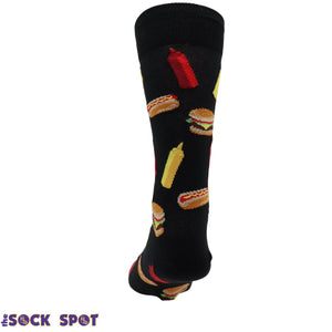 BBQ Grill Foods Men's Socks in Black by Hot Sox - The Sock Spot