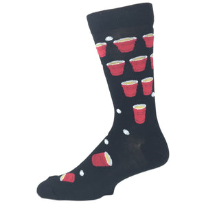Beer Pong Socks by K.Bell - The Sock Spot