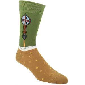 Beer Tap Drink Socks in Green by SockSmith - The Sock Spot