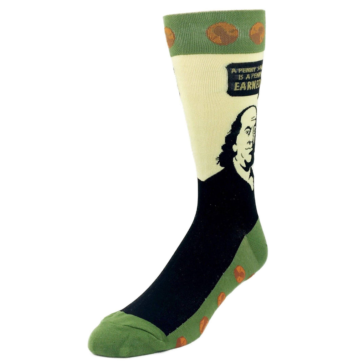 Ben Franklin Quote Socks by Foot Traffic - The Sock Spot