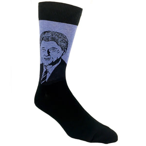 Bill Clinton Sock in Blue by SockSmith - The Sock Spot
