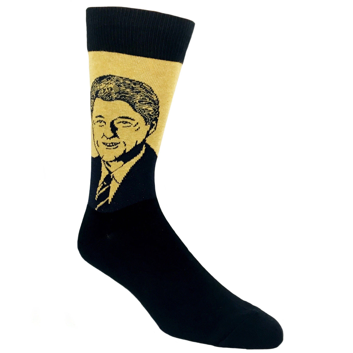 Bill Clinton Socks in Green by SockSmith - The Sock Spot
