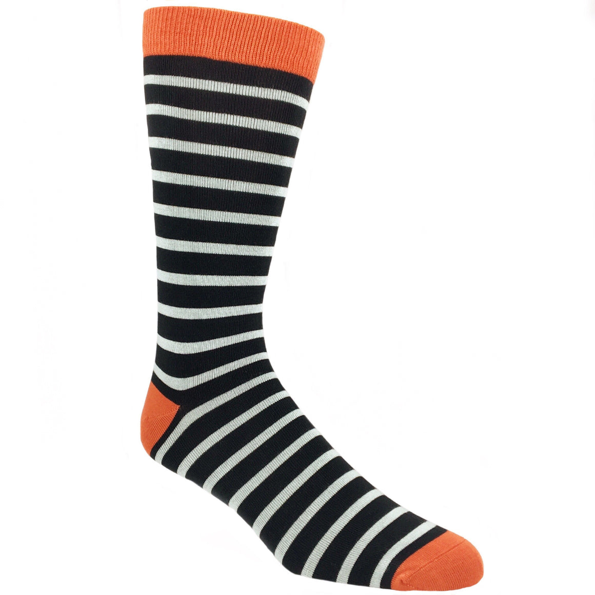 Black and Grey Sailor Striped Bamboo Socks by SockSmith - The Sock Spot