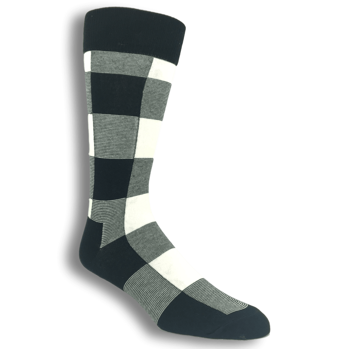 Black and White Lumberjack Socks by Happy Socks - The Sock Spot