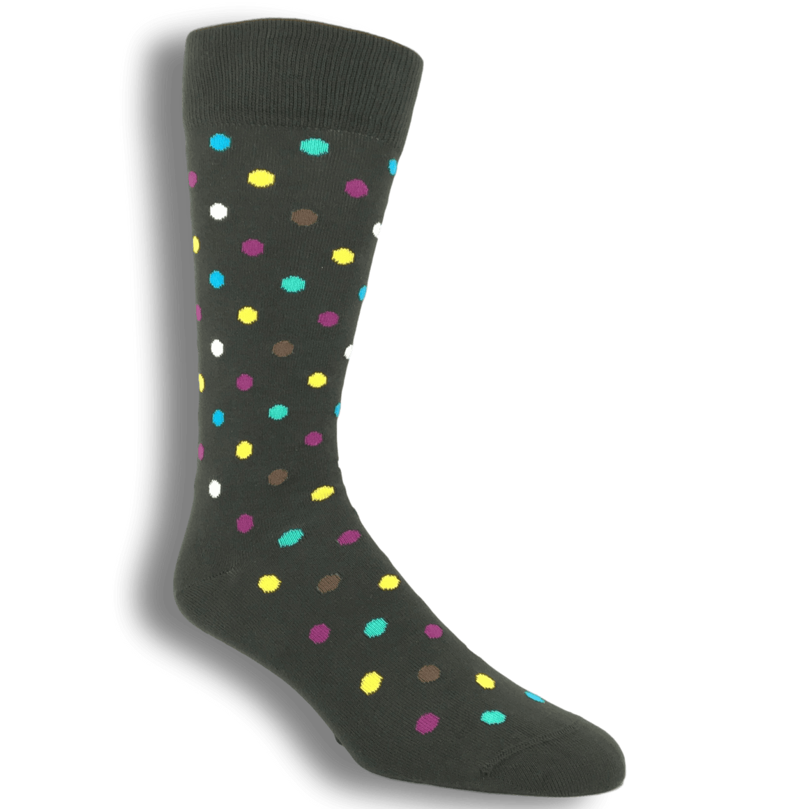 Black with Multi Colored Dots Socks by Happy Socks - The Sock Spot