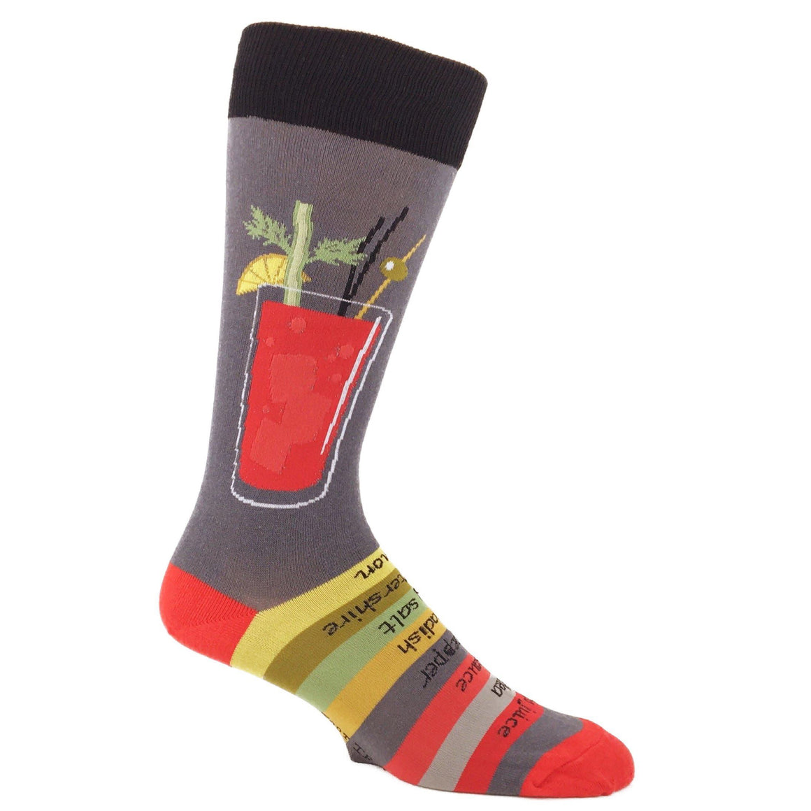 Bloody Mary Recipe Socks by Foot Traffic - The Sock Spot
