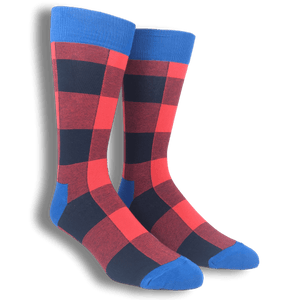Blue and Red Lumberjack Socks by Happy Socks - The Sock Spot
