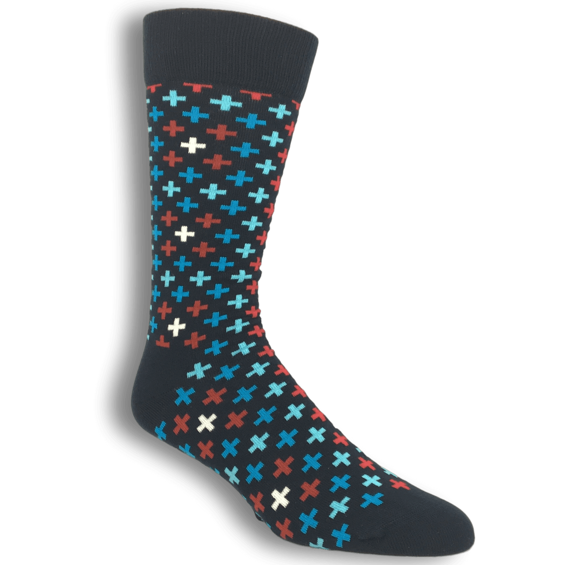 Blue and Red Plus Socks by Happy Socks - The Sock Spot
