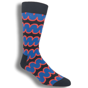 Blue and Red Squiggly Socks by Happy Socks - The Sock Spot