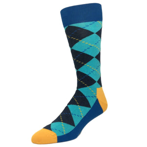 Blue Argyle Socks by Happy Socks - The Sock Spot