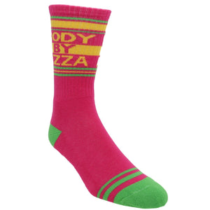 Body By Pizza Athletic Socks Made in the USA by Gumball Poodle - The Sock Spot