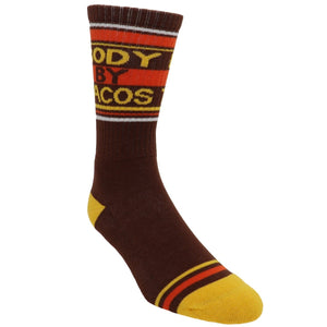 Body By Tacos Athletic Socks Made in the USA by Gumball Poodle - The Sock Spot