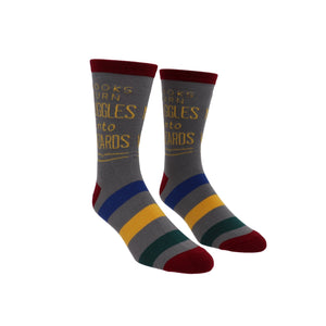Books Turn Muggles into Wizard Harry Potter Socks - Large - The Sock Spot