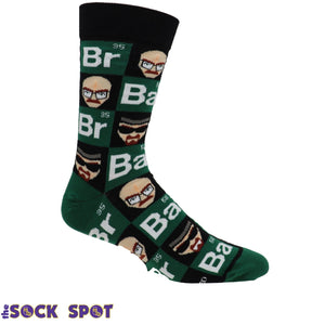Breaking Bad Squares Men's Socks by Cool Socks - The Sock Spot