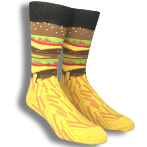 Burger and Fries Socks by K.Bell - The Sock Spot