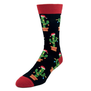Cactus with Christmas Lights Socks by SockSmith - The Sock Spot