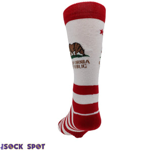 California Republic Men's Socks - Made In America by K.Bell - The Sock Spot