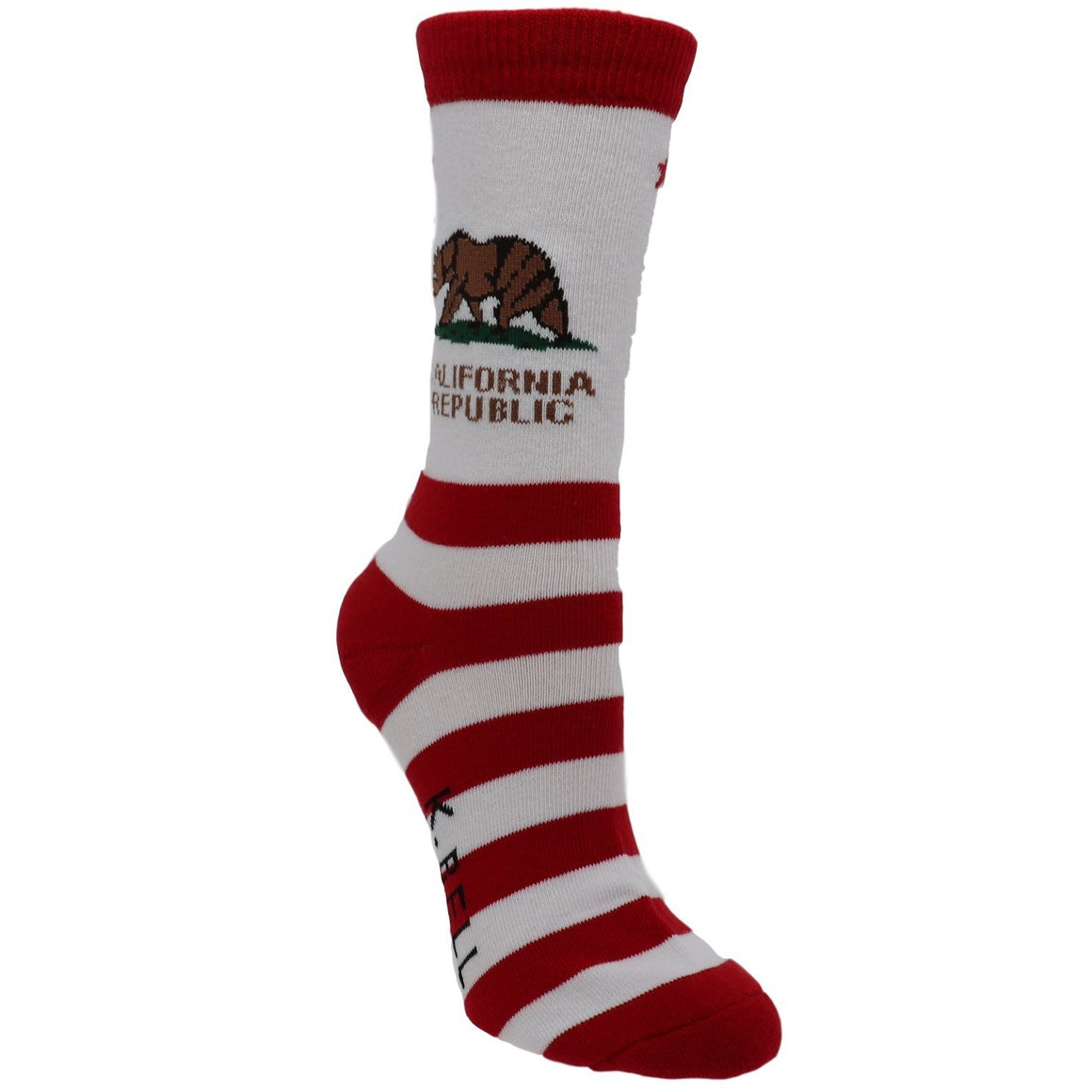 California Republic Women's Socks - Made In America by K.Bell - The Sock Spot