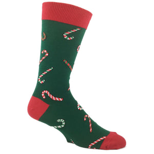 Candy Cane Christmas Socks in Green by SockSmith - The Sock Spot