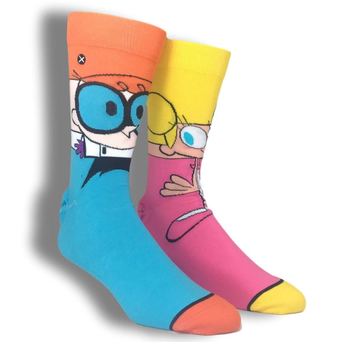 Cartoon Network Dexter's Laboratory, Dexter & DeeDee 360 Caroon Socks by Odd Sox - The Sock Spot