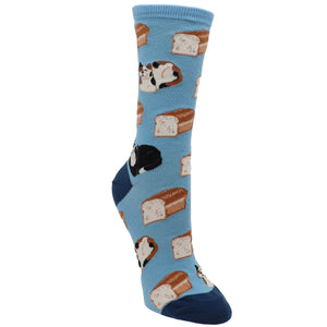 Cat Loaf in Blue Women's Socks by SockSmith - The Sock Spot