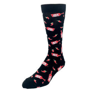 Chilies and Hot Sauce Socks by K.Bell - The Sock Spot