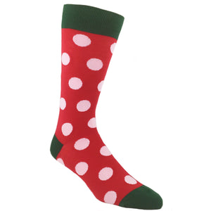 Christmas Colors Spotted Socks by Hot Sox - The Sock Spot
