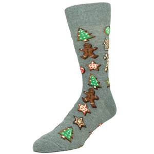 Christmas Cookies Socks in Grey by Hot Sox - The Sock Spot