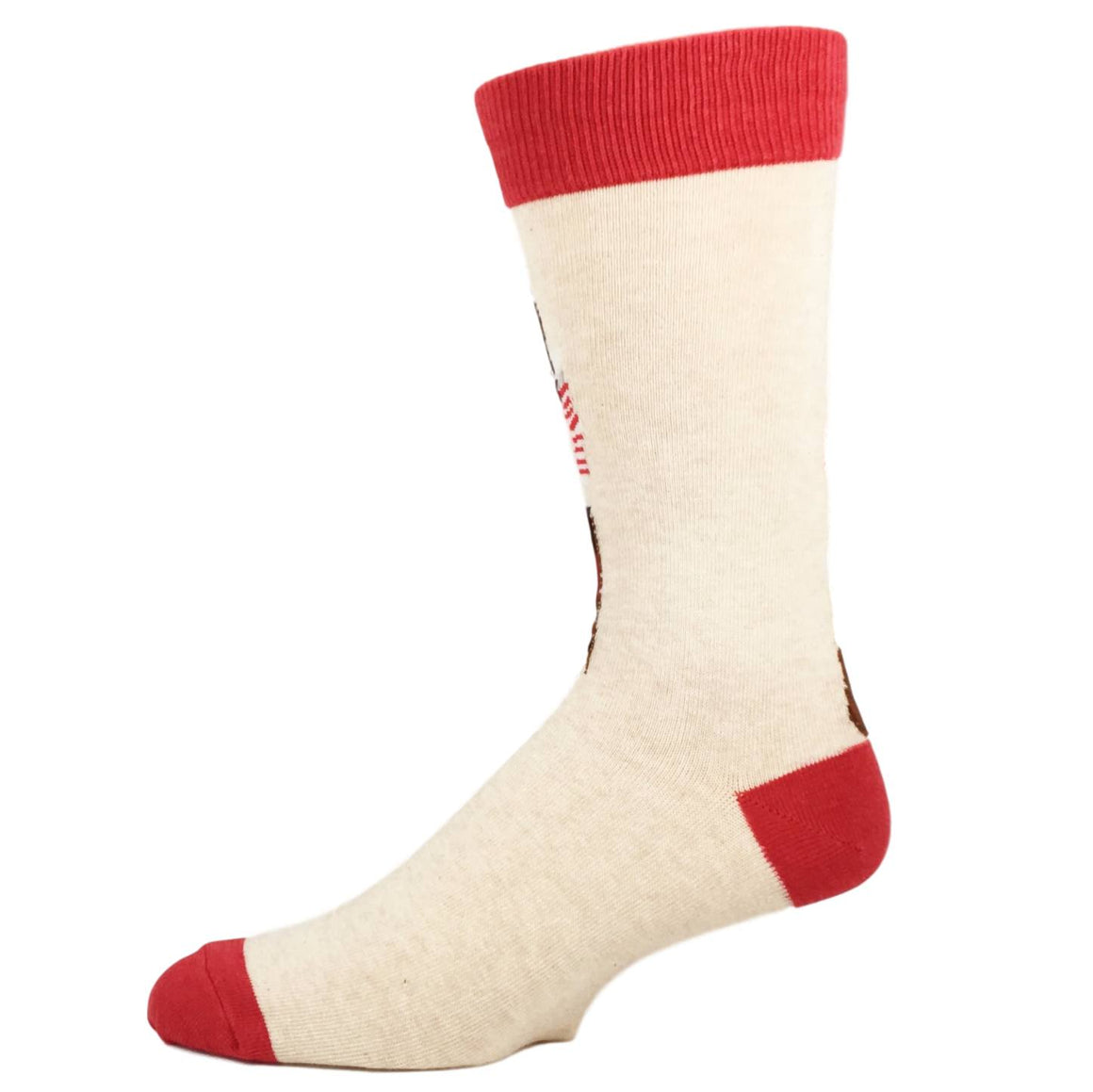Classic Coke Santa Socks in Tan by SockSmith - The Sock Spot