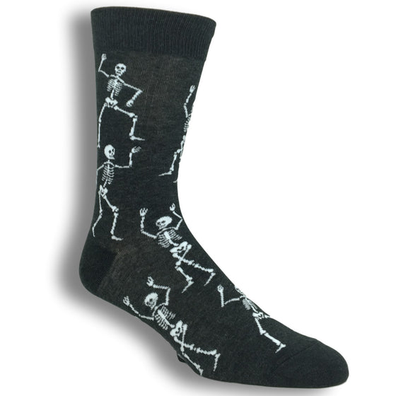 Dancing Skeleton Socks by Good Luck Sock - The Sock Spot