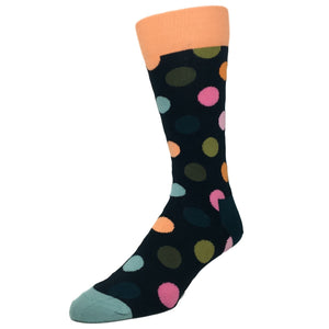 Dark Blue Big Dot Socks by Happy Socks - The Sock Spot