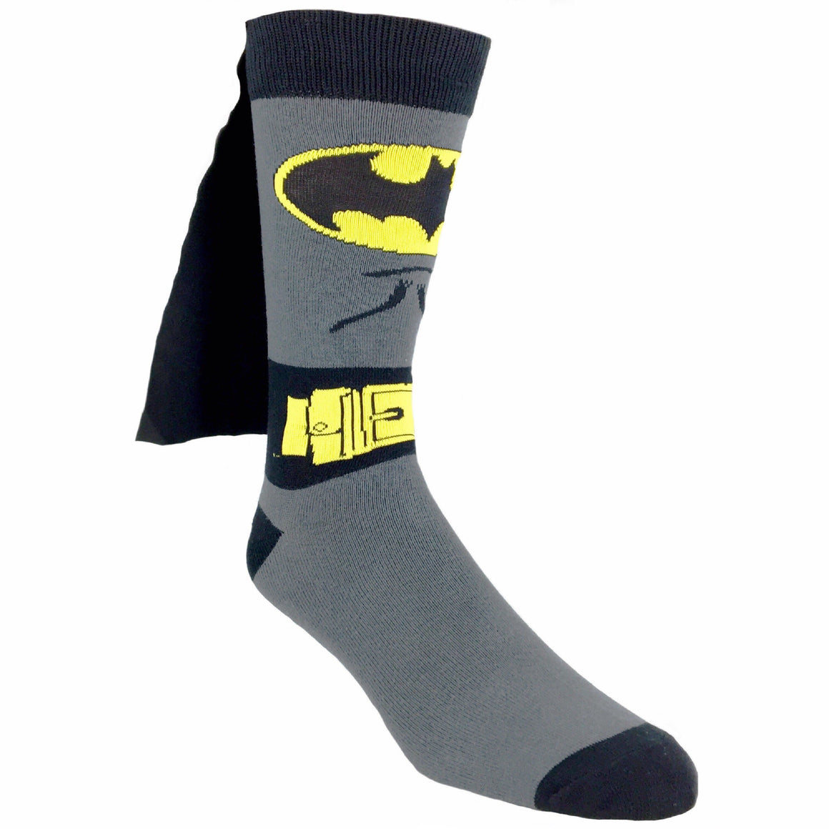 DC Comics Batman Suit Up 3D Caped Socks - The Sock Spot