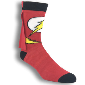 DC Comics Flash Caped 3D Socks - The Sock Spot